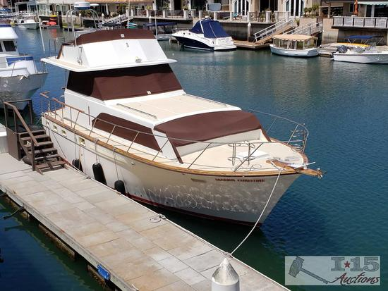 40 foot 1975 Egg Harbor Yacht with Detroit Diesels Twin engines, Located in Huntington Beach, Ca