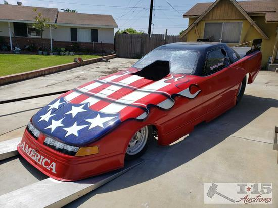 Funny Car Dragster with Fiberglass Body, BAE Aluminum Block, 1997 Ken Mooers Chassis, New Photos!