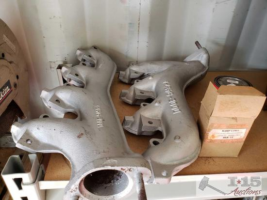 Pair of Ford 429 Exhaust Manifolds with Bolts and Manifold Paint