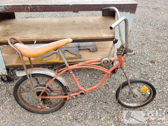 Vintage 1973 Schwinn Stingray Bicycle, Serial No. AH038141