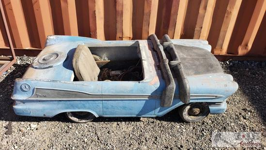 Vintage Pedal Car with Fiberglass Body