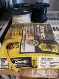 3 Spools of Wire and Roll of Romex