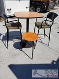 Tall Table with 2 Chairs and Side Table