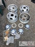 4 OEM Chevy Wheels, Came Off of 2005 3500 Dually