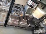 2 Ronco Showtime Rotisserie Ovens, Crock Pot, Nesco Food Dehydrator, 3 Winco Food Warmers, Presto