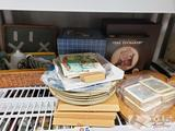 Norman Rockwell Collectors Plates, Tom Sawyer Collectors Series Gold Plated Pewter Plates and More