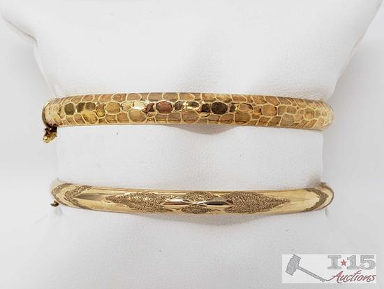 Two 14k Gold Bracelets, 11.5g