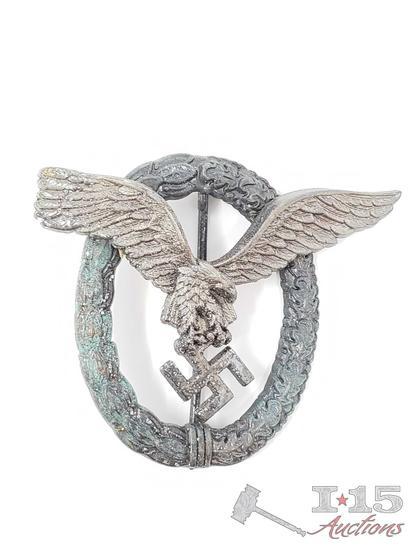 German World War II Luftwaffe Pilot Badge   Firearms