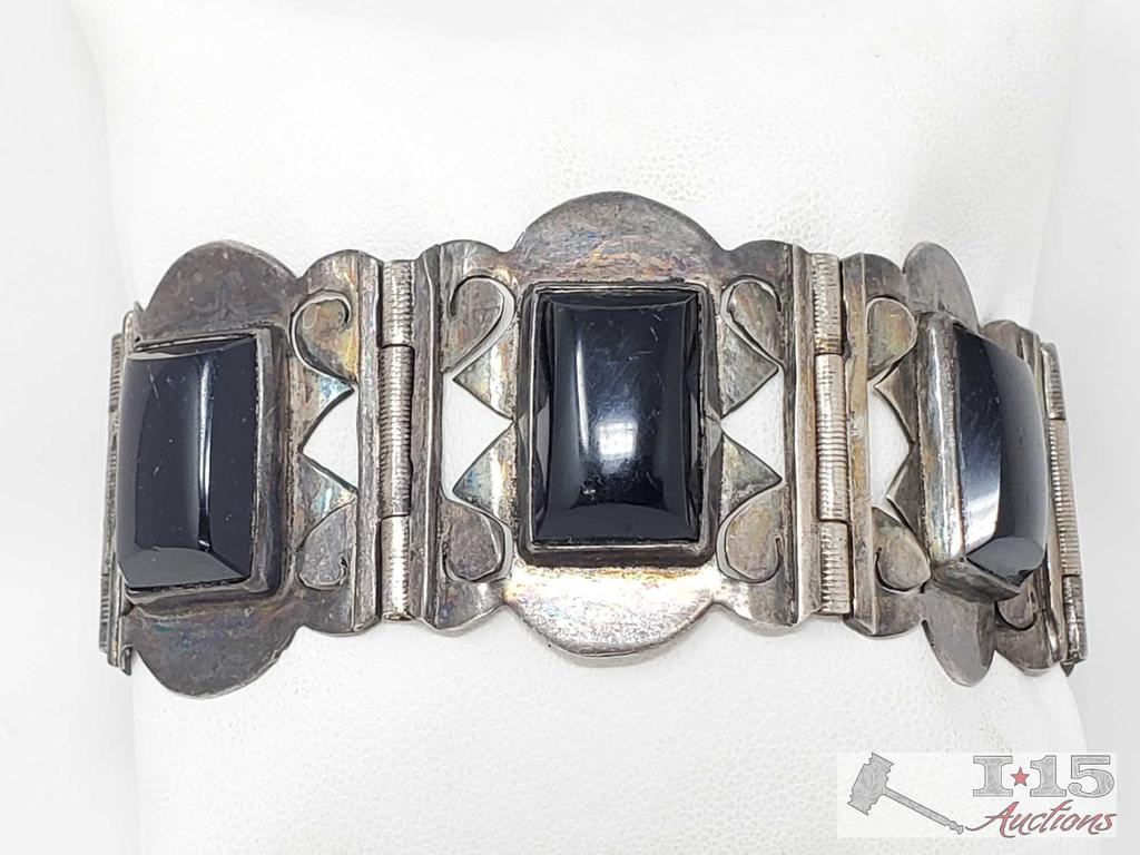 Sterling Silver Bracelet, 51.2g