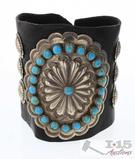 Old Pawn Turquoise Sterling Arm Guard, 70.2g