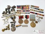 Miltary Ribbons, Medals, and Pins