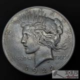 1922 Silver Peace Dollar, Denver Mint