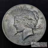 1922 Silver Peace Dollar, Philadelphia Mint