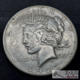 1923 Silver Peace Dollar, San Francisco Mint
