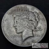 1923 Silver Peace Dollar, Denver Mint