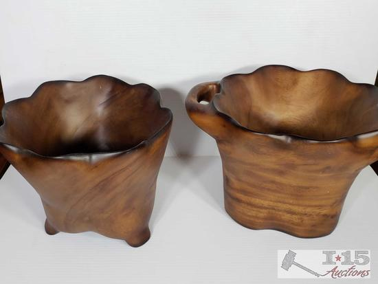 Hand Carved Wooden Bowls from Meh wood