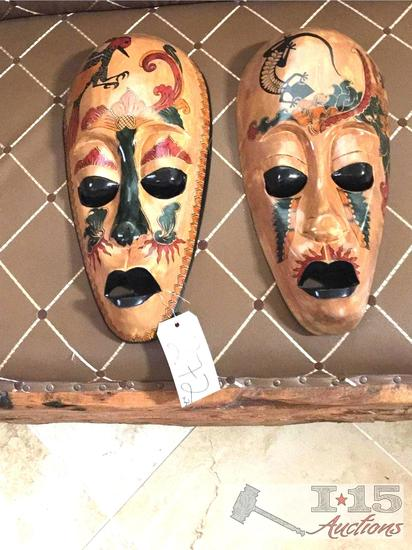 ...2 Special design, and hand painted. Lombok Island Mask. Hand carved from Mahogany.