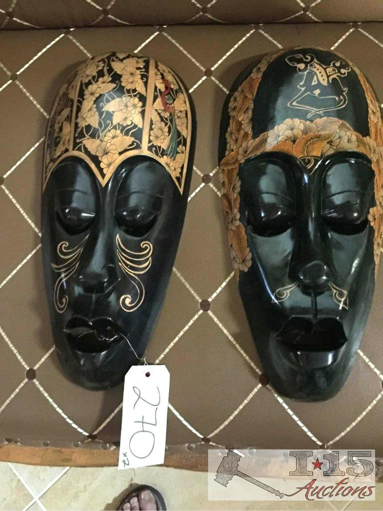 Lombok Island Mask. Hand carved from Mahogany.Special design, and hand painted.