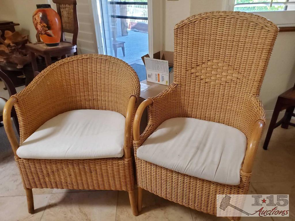 Two Wicker Patio Chairs