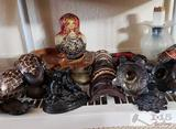 Hand Carved Wooden Mask's, Vase's, Plates & More