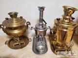Three Vintage Tea Dispensers