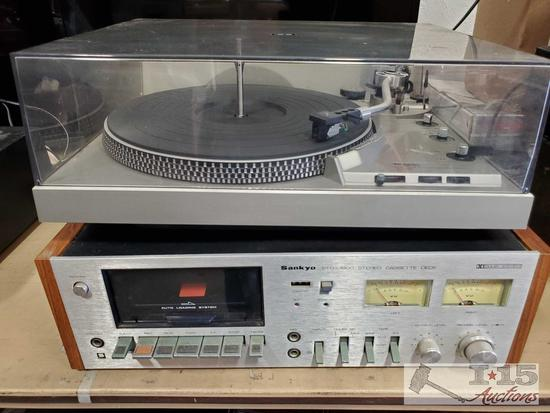 Tecnics Turnatable System and Sankyo Cassette Deck