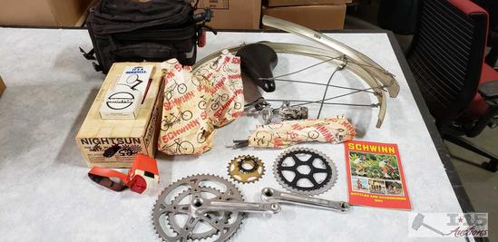 Schwinn bicycle parts and various other bicycle parts