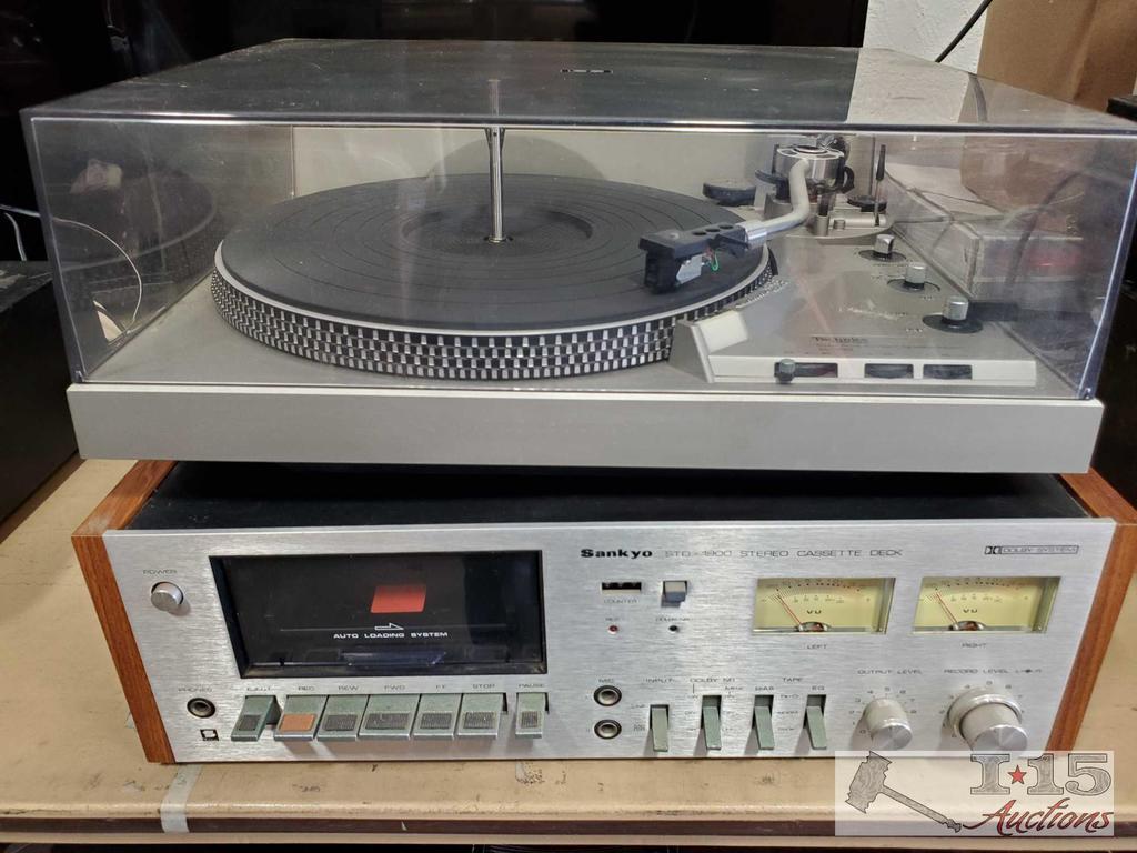 Tecnics Turnatable System and Sankyo Cassette Deck