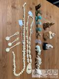 Bone snuff bottles, elephant, dolphin and more