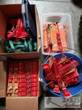 Dog Leashes and Large Lot of Collars