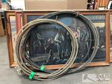 4 Framed Lon Megargee Prints with Two roping ropes