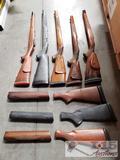 8 Rifle/Shotgun Stocks, Wood and Plastic