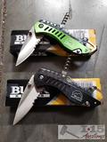 2 Buck Folding Knives, Model 7601 and 760T