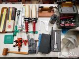 Misc Reloading Tools, Hammers, Powder Measuring, Slide Rules, and More