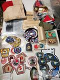 Patches, Belt Buckles, Flags, Hats, and More