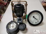 3 Compasses and 2 Altitude Gauges