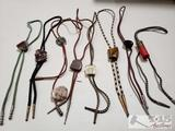 8 Bolo Ties with Stones