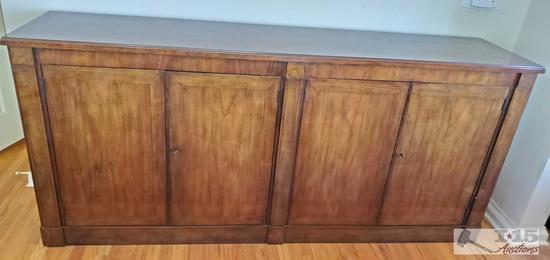 Baker Furniture 4-door buffet credenza with keys