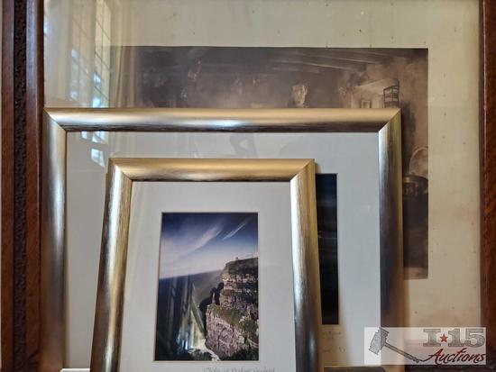 3 Framed Photos