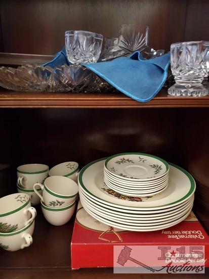 Christmas Dish Set and Glassware