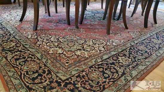 Authentic Turkish Konya Ladik handmade wool on cotton carpet.