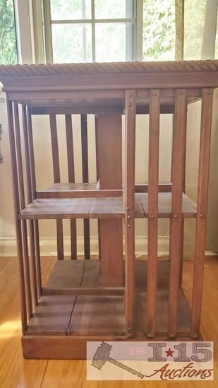 Antique oak Danner Revolving Bookcase