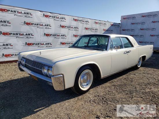 1962 Lincoln Continental Sedan, White