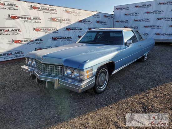 1974 Cadillac Coupe DeVille, Blue