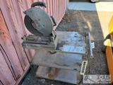 Shop Cart on Wheels and Attached Chop Saw
