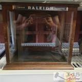 Vintage Raleigh cigarettes display case
