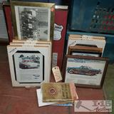 Vintage Automotive wall art and maps