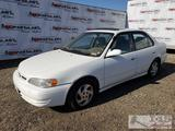 2000 Toyota Corolla, White, See Video! DEALER OR OUT OF STATE BUYER ONLY!!