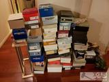 Approx 45 Assorted Pairs of Shoes and Shoe Rack