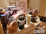 Unopened Blow Dryers, Curling Irons, Irons, Figurines, Stethoscopes, Bathroom Scale and More